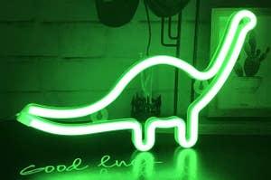 dinosaur light in green