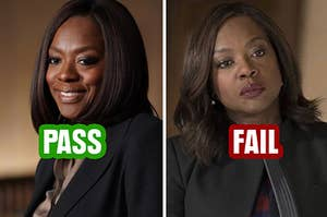 Annalise smiling and then Annalise scowling