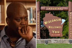 Titus Burgess looking shocked, and the