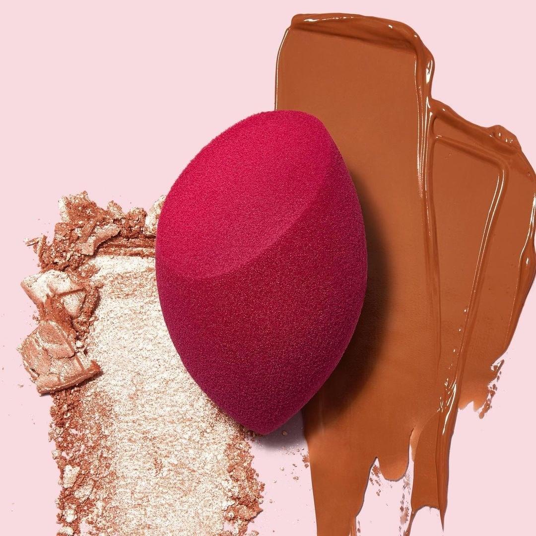 A makeup sponge