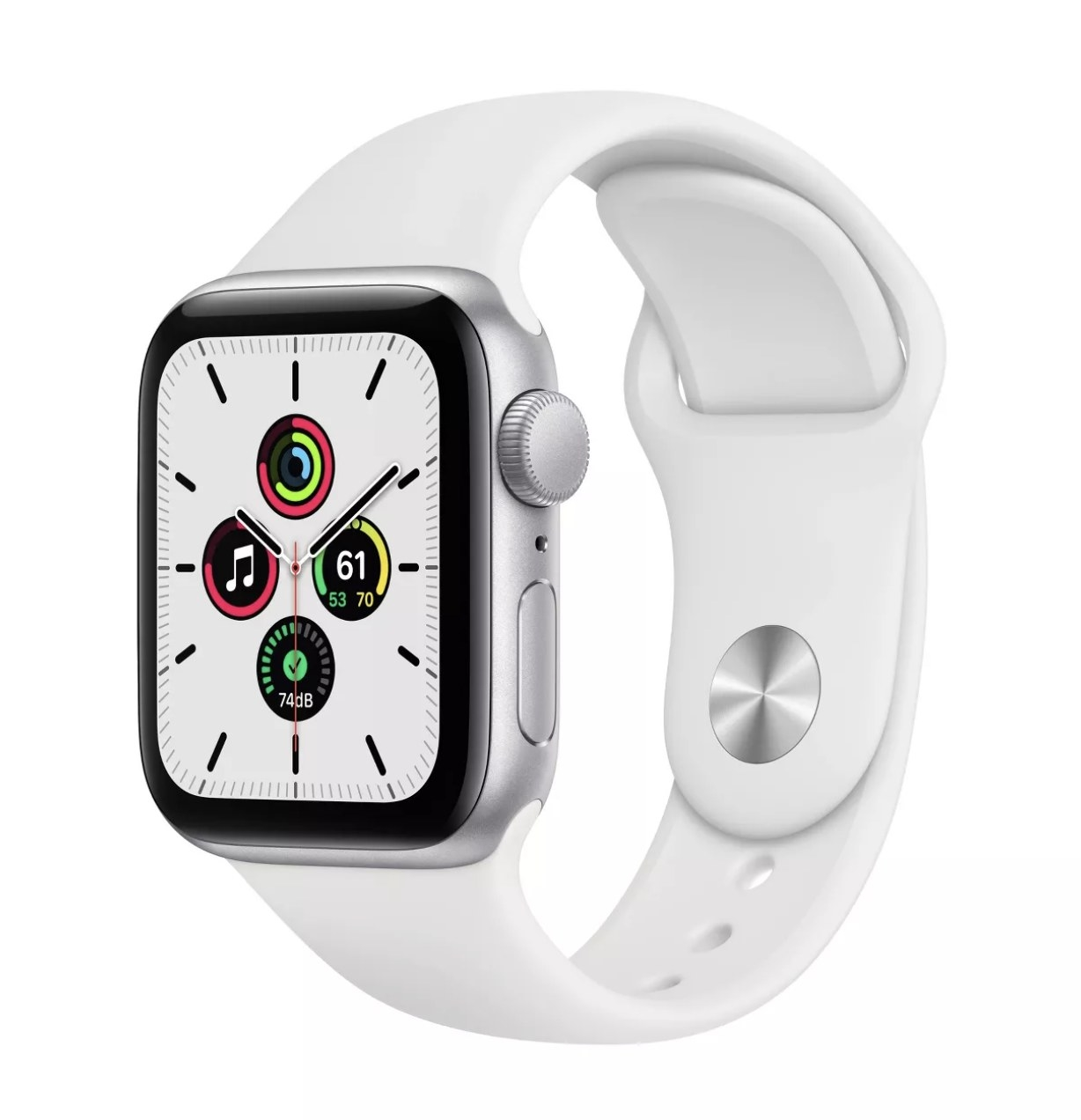 The watch in white