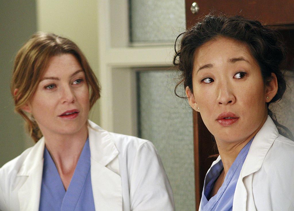 "Meredith Grey and Cristina Yang from ""Grey's Anatomy"""