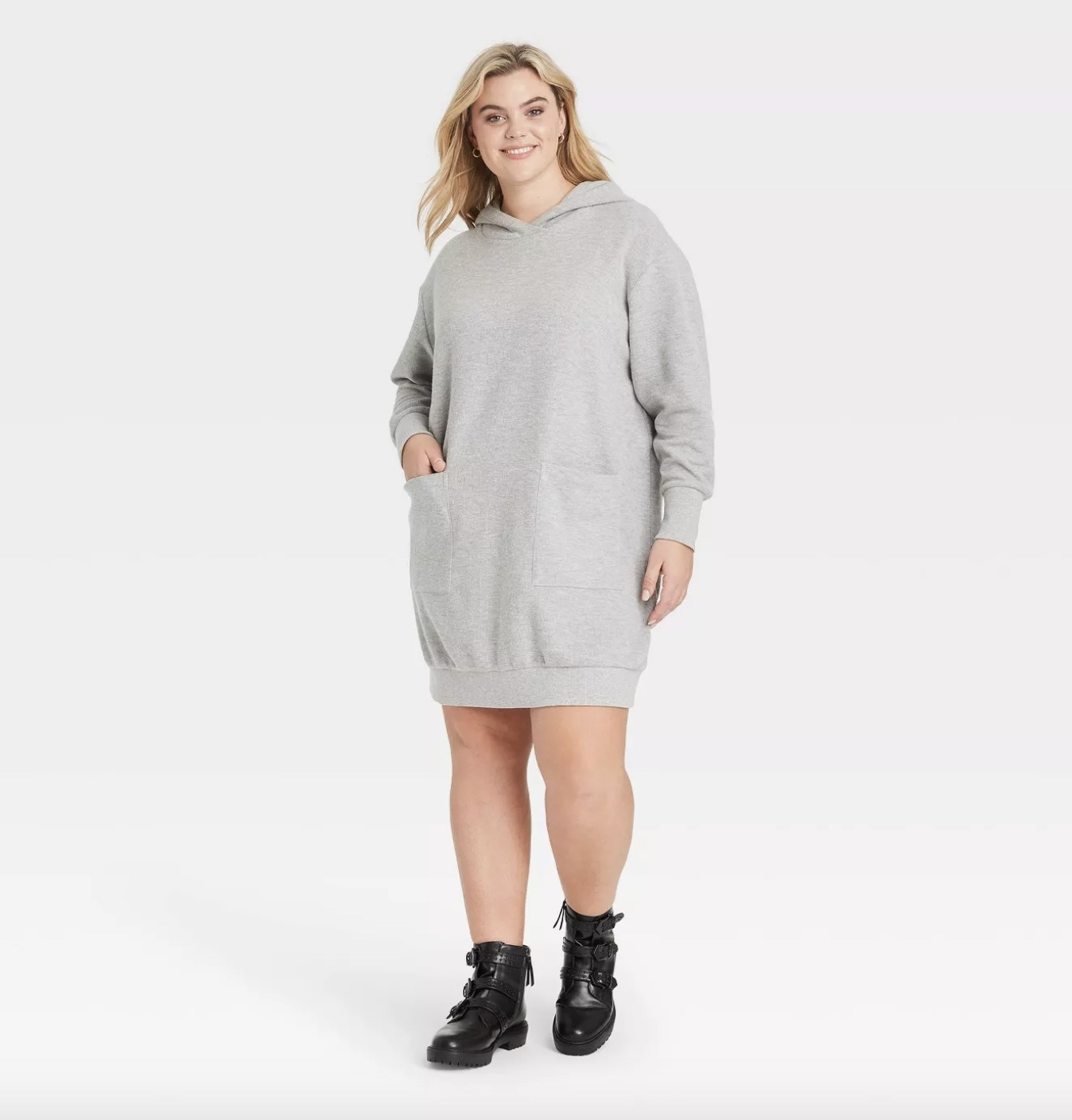 the sweatshirt dress in gray