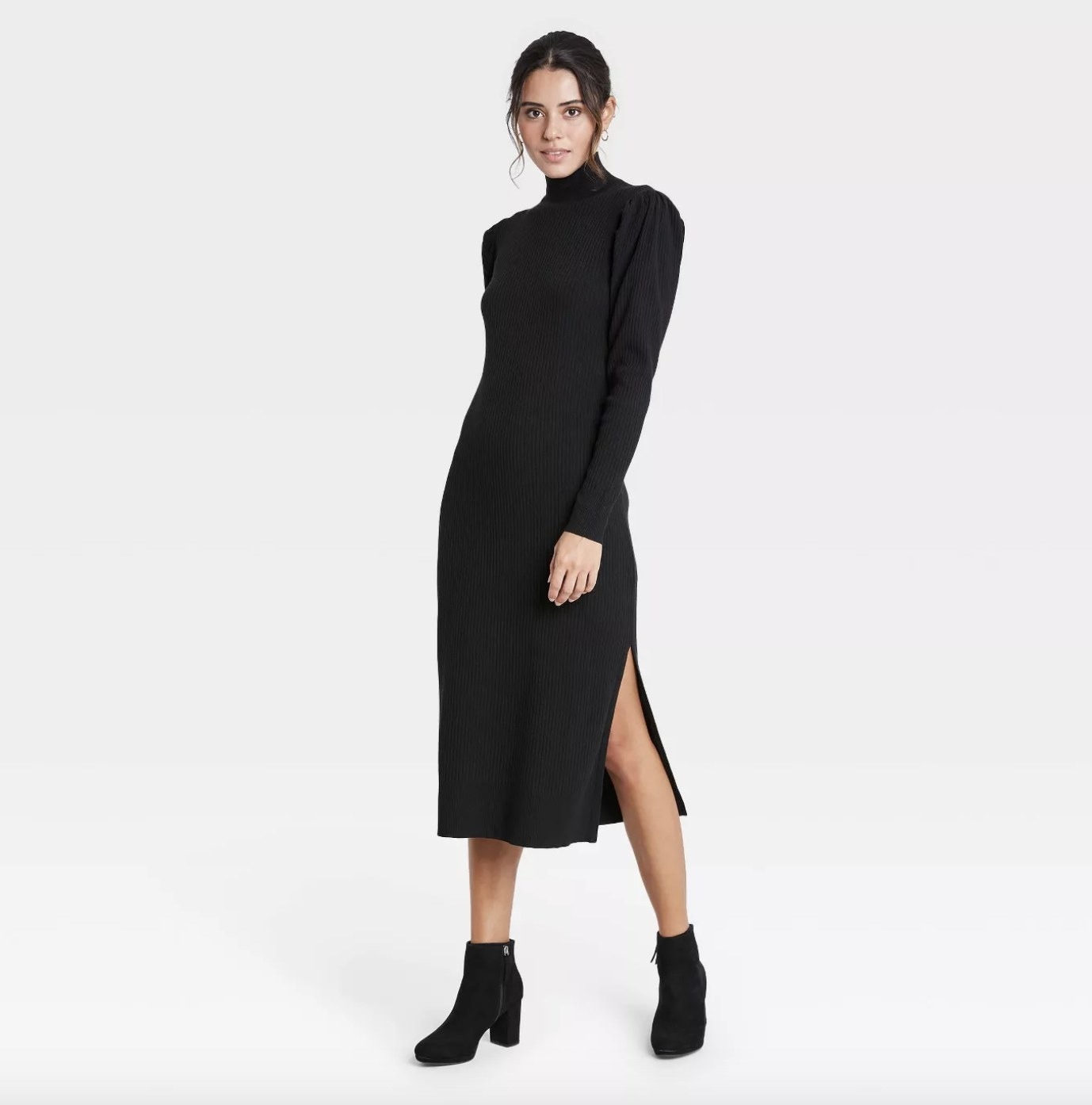 the sweater dress in black