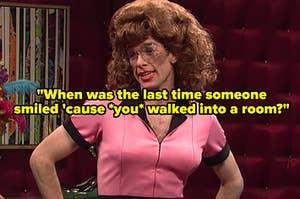 """John Mulaney hosting """"SNL"""" during the """"Drag Brunch"""" sketch"""