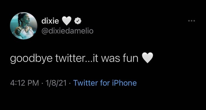 Dixie's final tweet