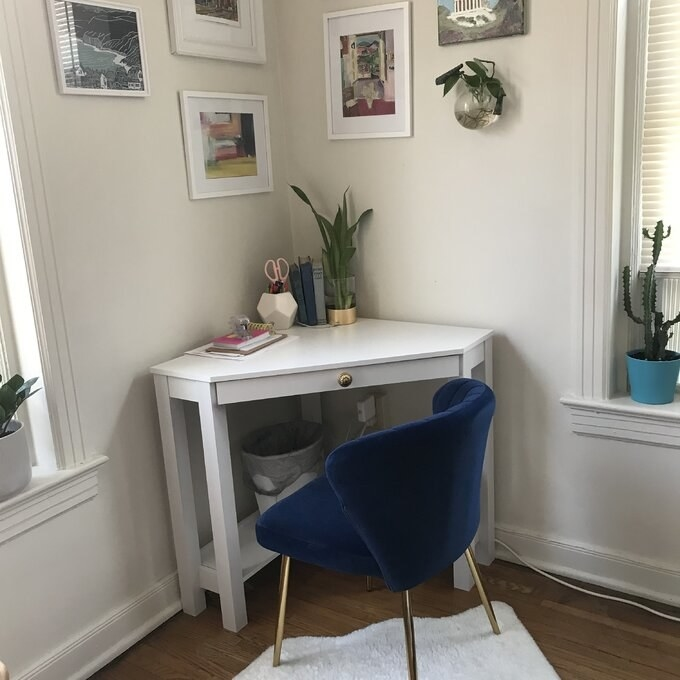 Review photo of the navy side chair