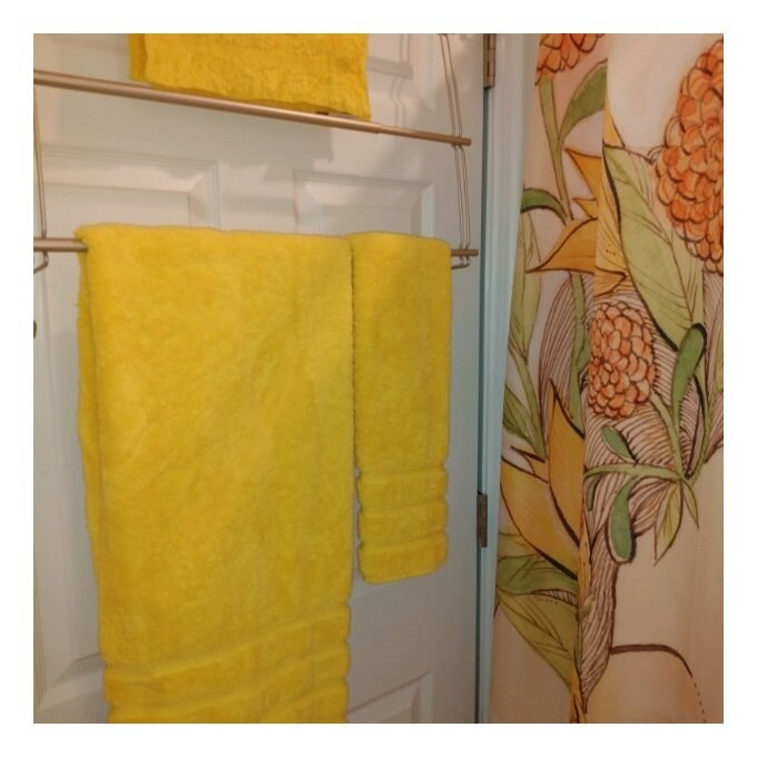 The towels in bright yellow