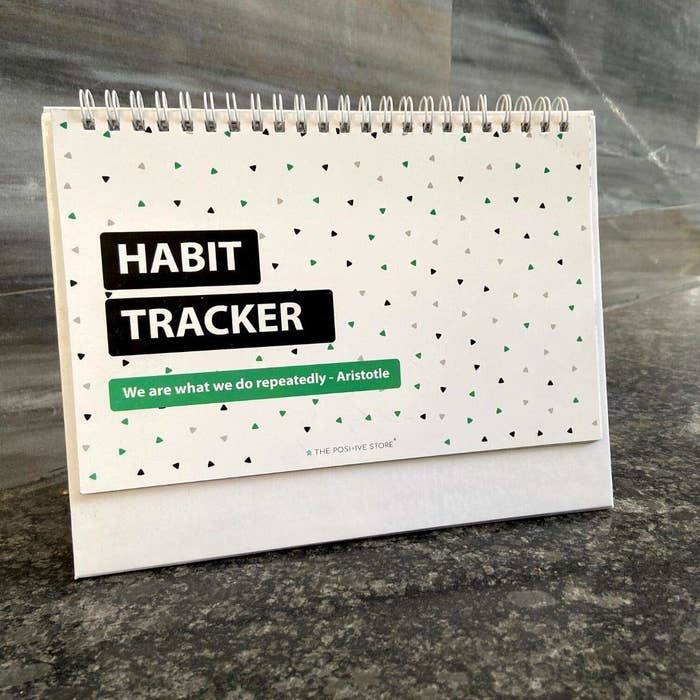 A habit tracker on a table