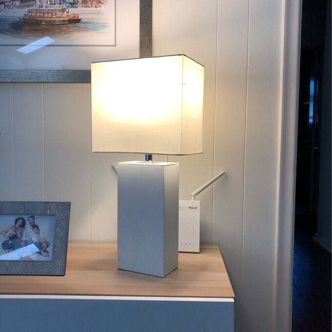 Review photo of the white table lamp