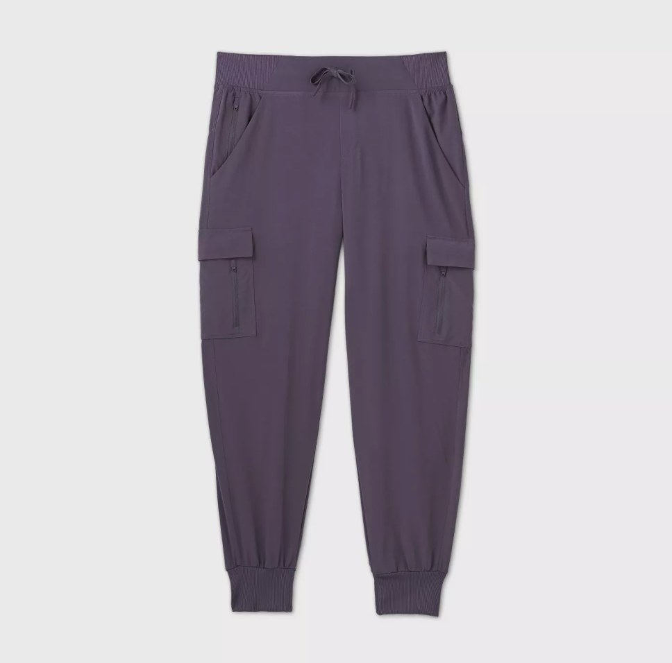 The pants in the color purple