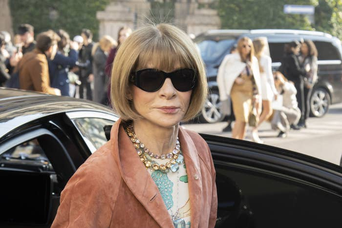 Anna Wintour at Milan Fashion Week