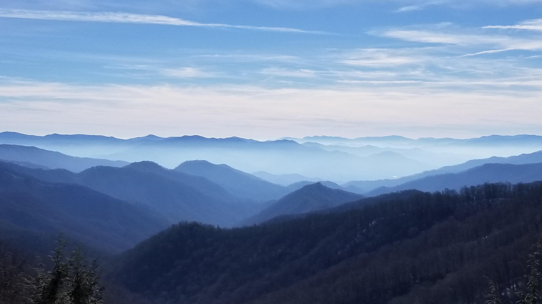 Views of smokey blue hills