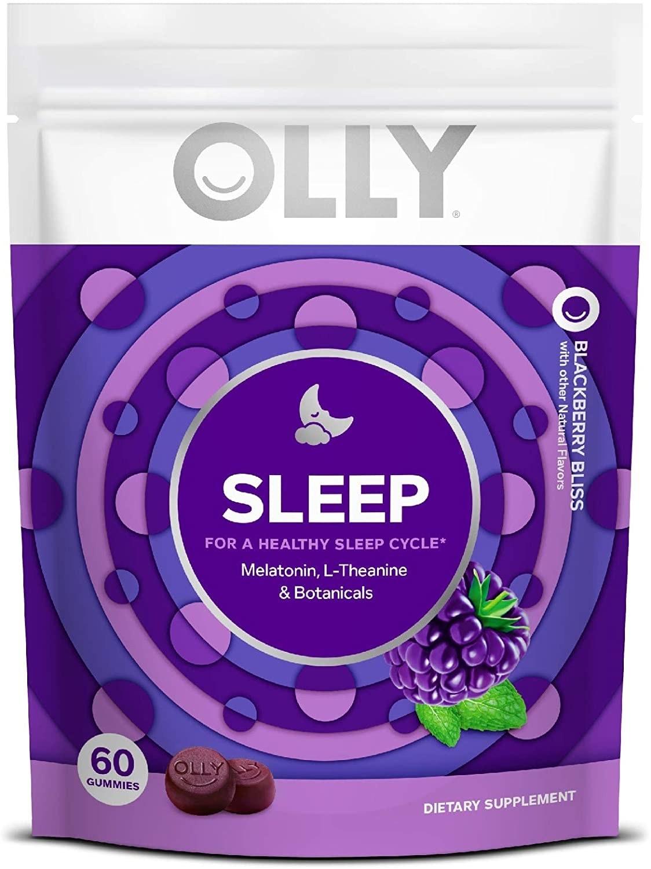 A package of Olly sleep gummies.