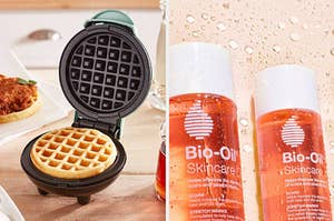 waffle maker and bio oil