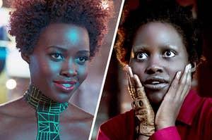 "Lupita Nyong'o in ""Black Panther"" and ""Us"""