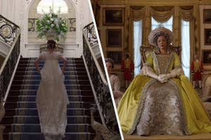"On ""Bridgerton,"" Daphne runs up the stairs and Queen Charlotte looks judgy"