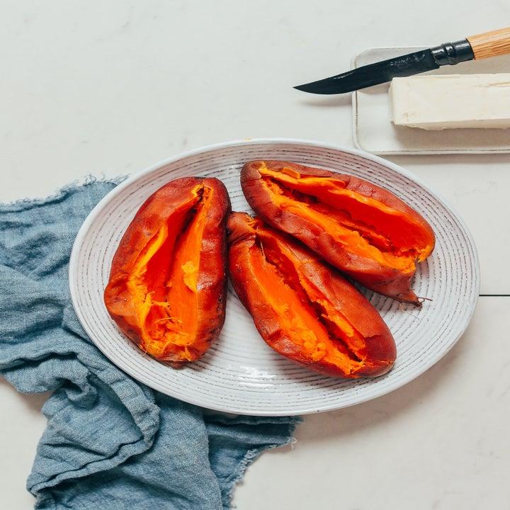 Cooked sweet potatoes