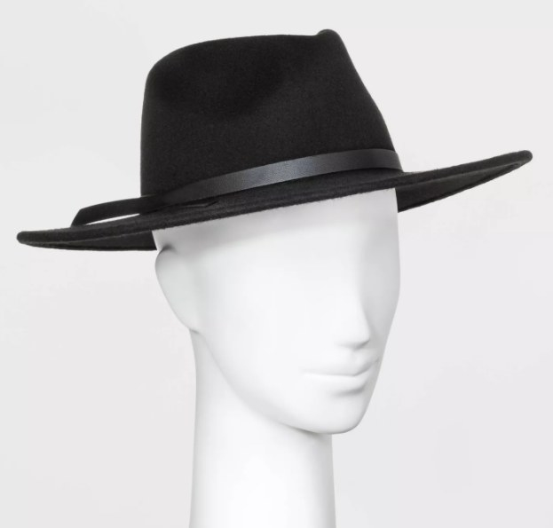 A mannequin wearing the fedora