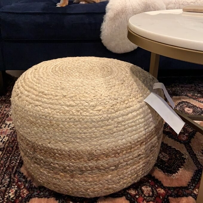 Review photo of the natural pouf ottoman