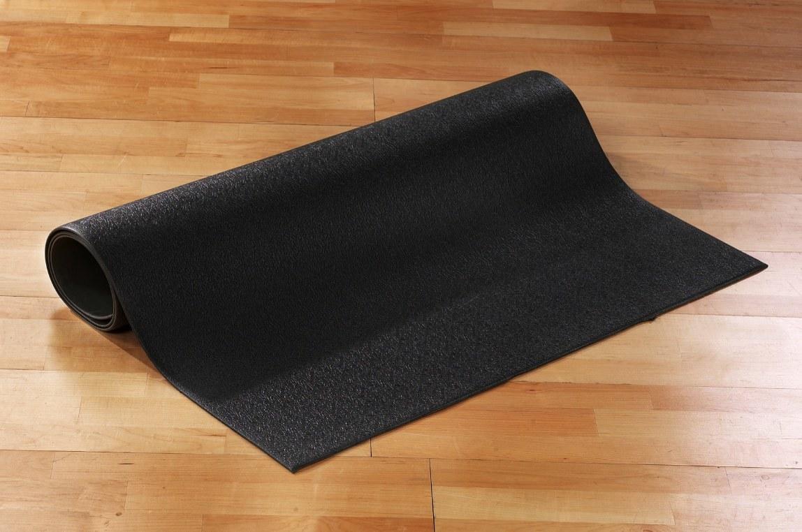 The floor mat in black