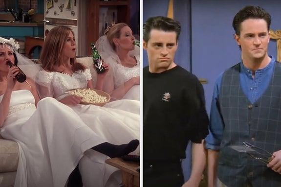 Monica, Rachel, Phoebe, Joey, and Chandler from