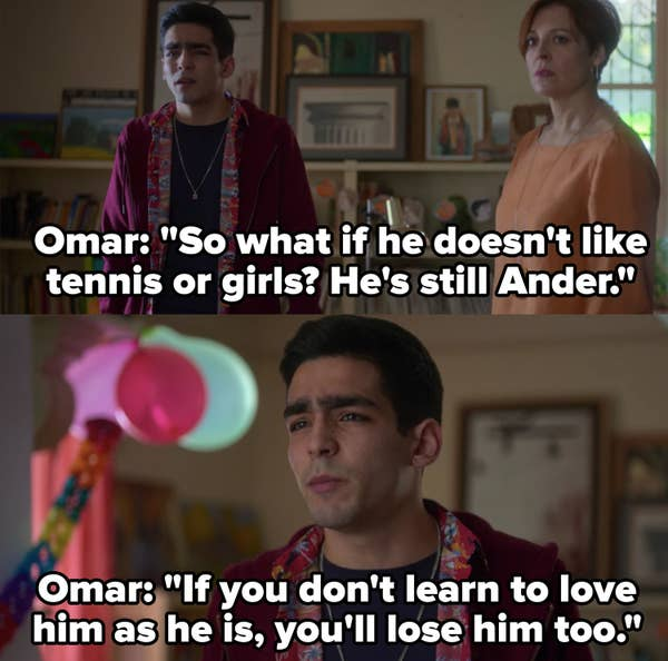 Omar tells Ander's father that he'll lose his son if he doesn't learn to love him the way he is