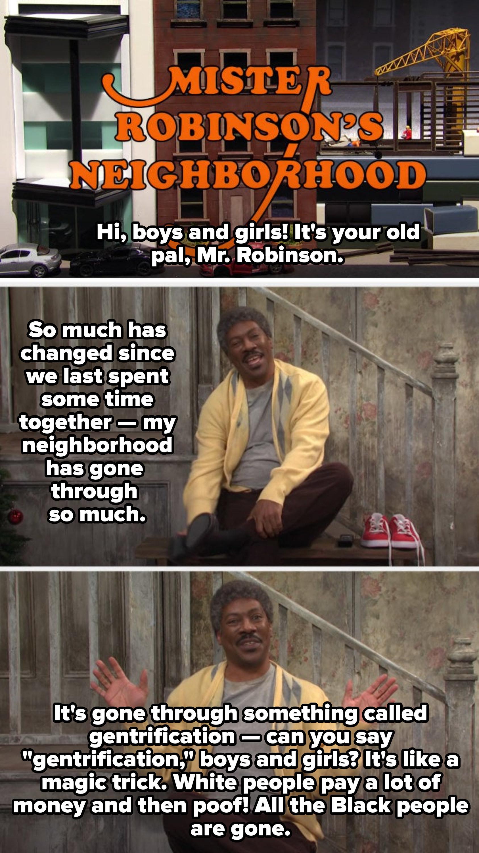"""Eddie Murphy in the """"Mr. Robinson's Neighborhood"""" sketch"""