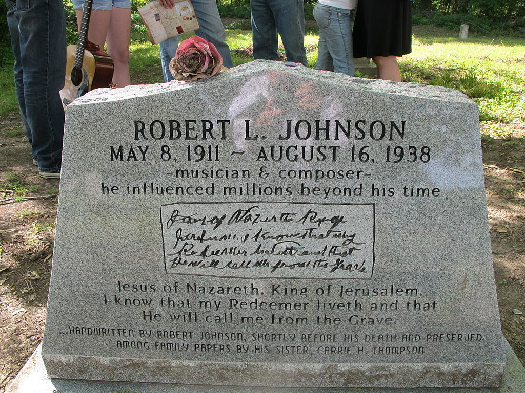 The grave of RObert Johnson