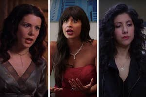 """Lorelai from """"Gilmore Girls"""", Tahani from """"The Good Place"""", and Rosa from """"Brooklyn Nine-Nine"""""""