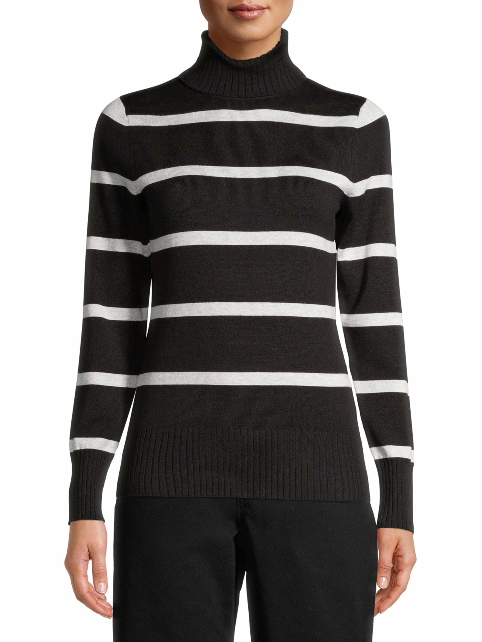 Model in a striped sweater