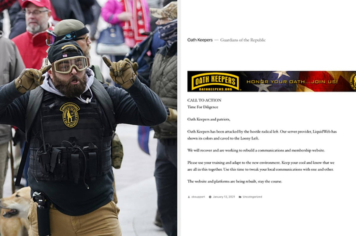 A Major Militia Group Said Its Website Was Taken Down Days After It Sent Members To The Capitol Riots