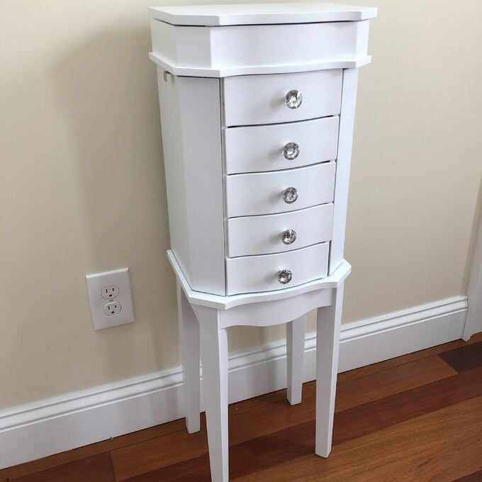 Review photo of the white jewelry armoire