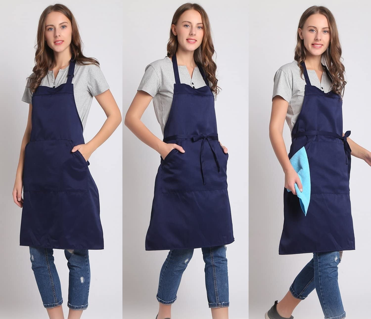 person wearing the apron
