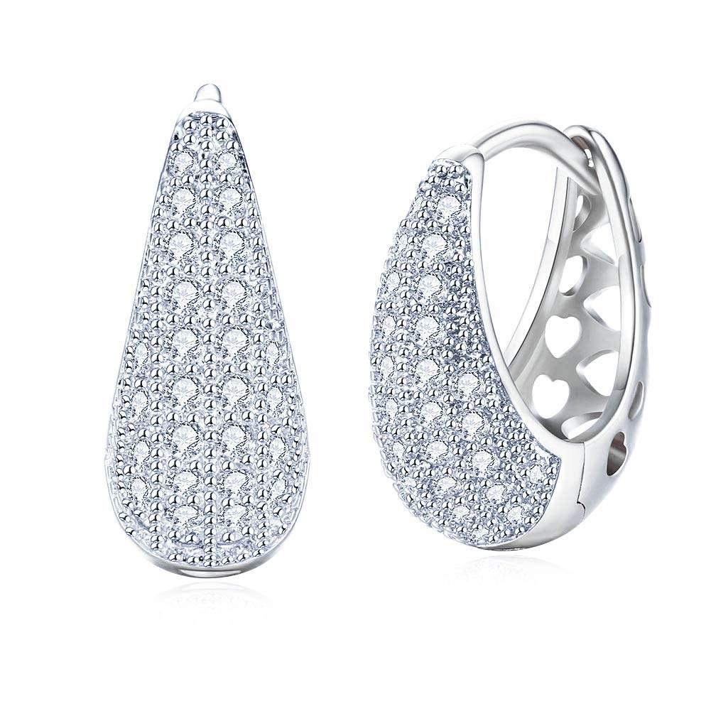 A pair of crystal earrings