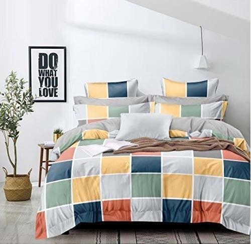 A multi colour duvet bed sheet