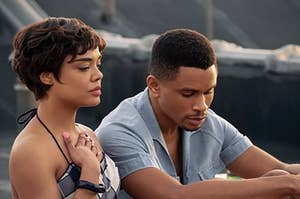 "Tessa Thompson and Nnamdi Asomugha in ""Sylvie's Love"""