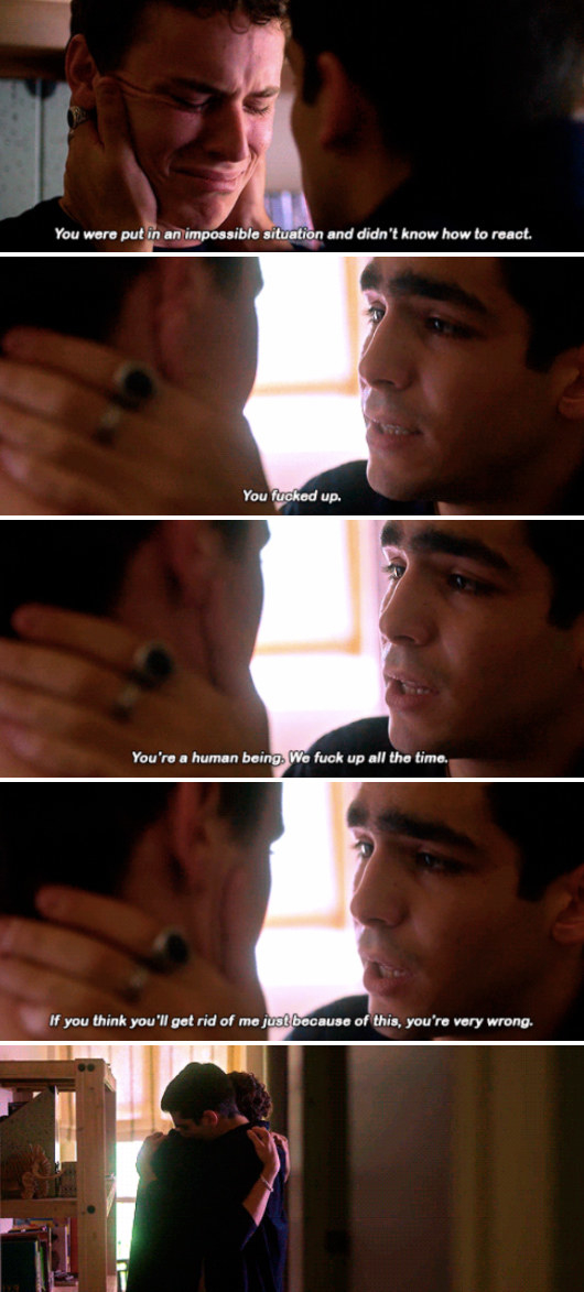 """Omar comforting Ander by telling him: """"You're a human being. We fuck up all the time"""""""