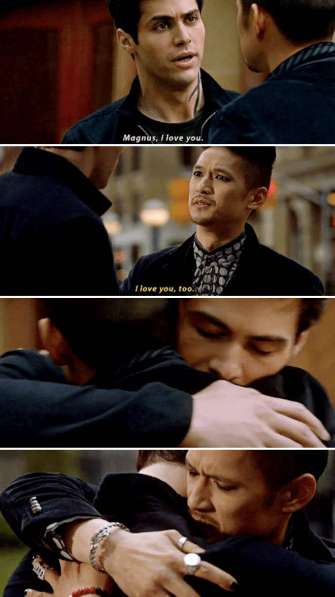 Magnus and Alec expressing their love for one another