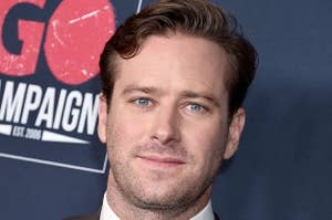 Armie Hammer arrives at the Go Campaign's 13th Annual Go Gala at NeueHouse Hollywood on November 16, 2019 in Los Angeles, California