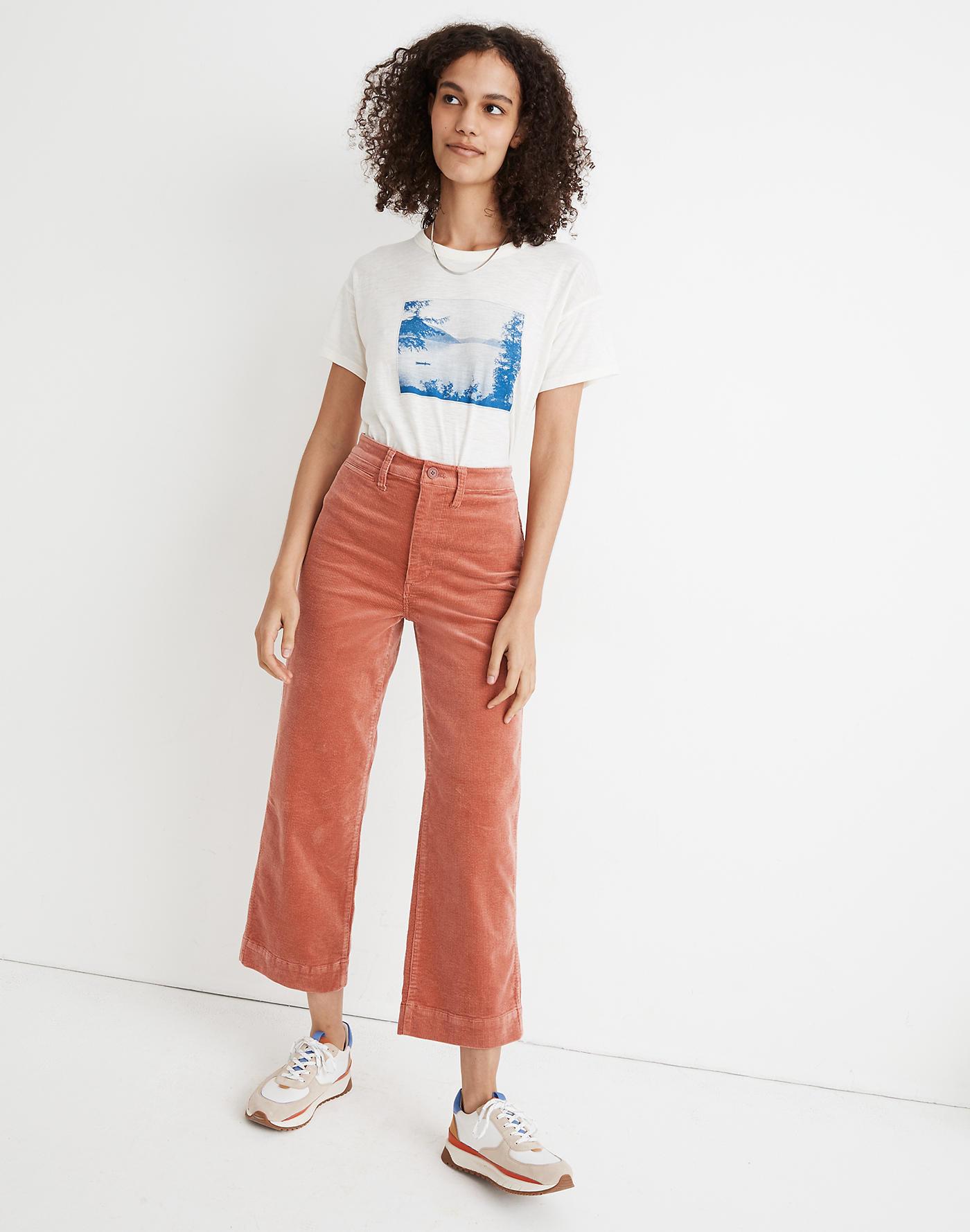 Model wearing pink pants