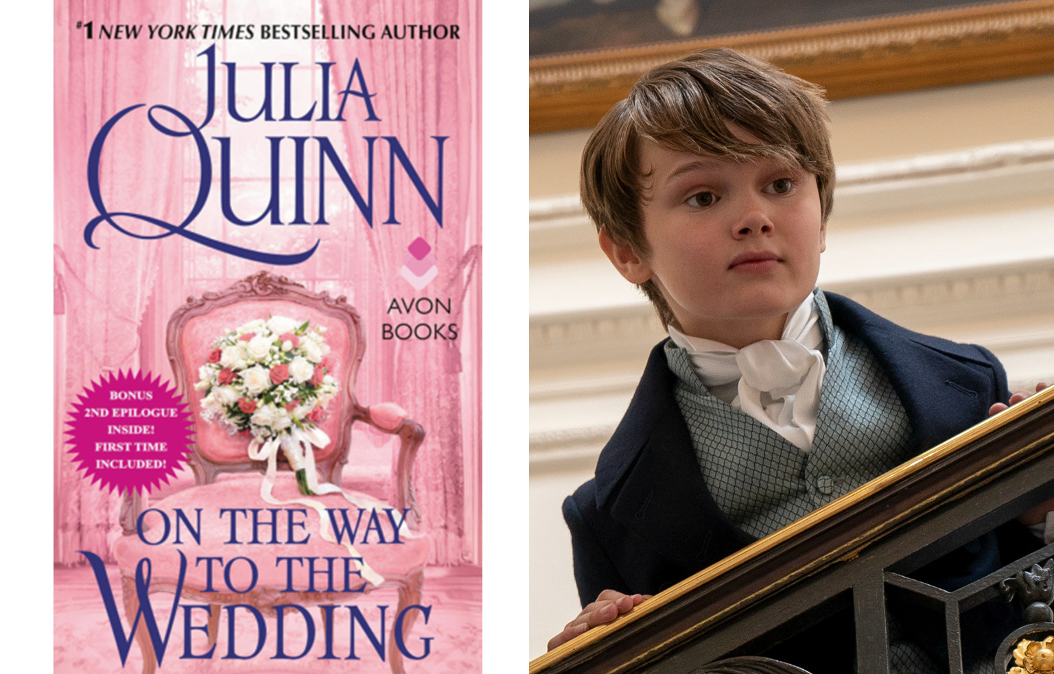 An ornate chair with a bouquet of flowers placed on it is featured on this book cover