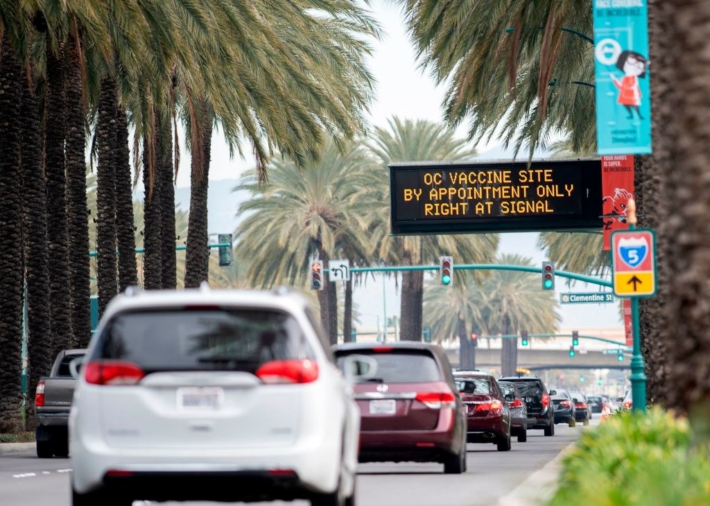 a lot of traffic en route to Disneyland