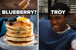 blueberry pancakes? and troy screencaps