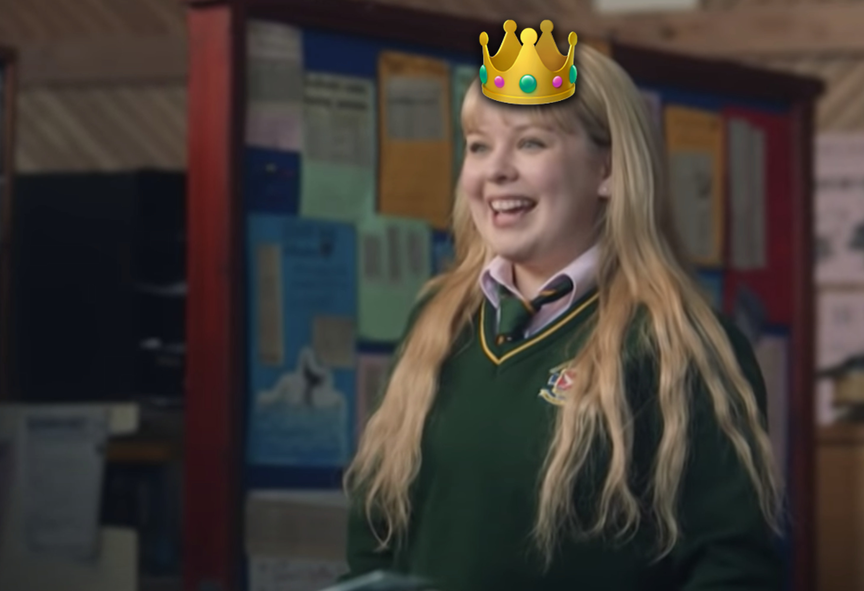 Clare in a crown