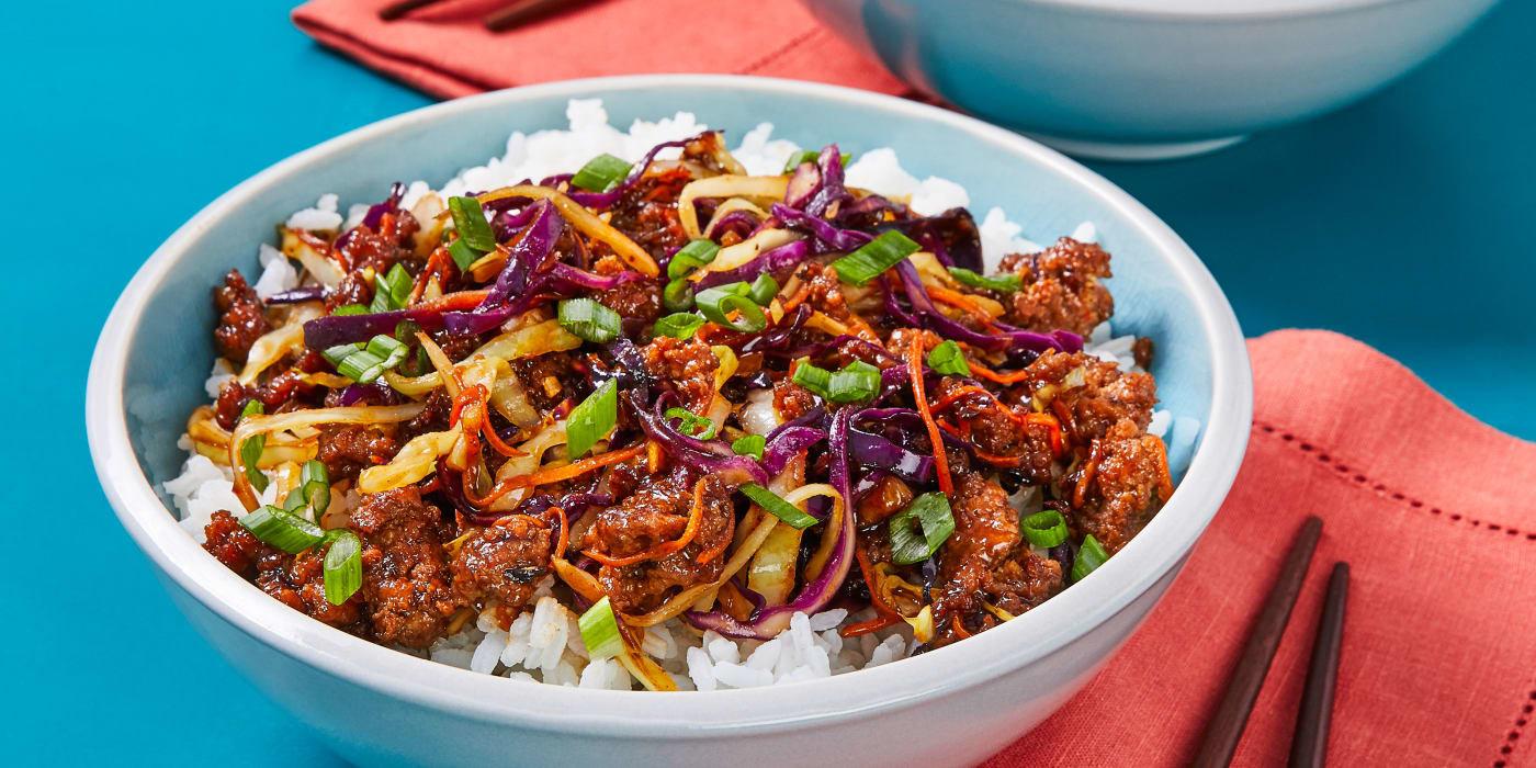 Moo Shu beef bowls