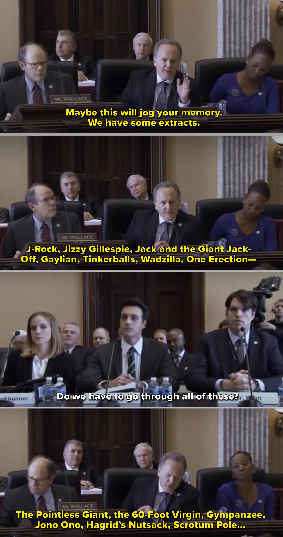 Jonah, Amy, and Dan sitting before Congress