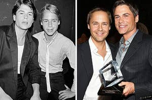 Rob and Chad Lowe now and a couple decades younger
