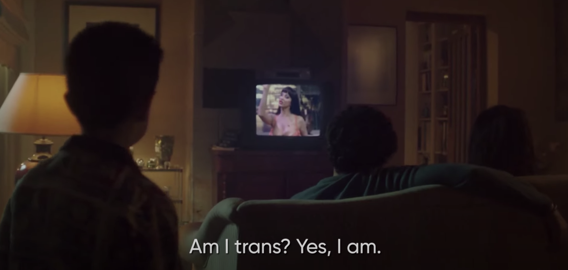 "Cristina on TV saying, ""Am I trans? Yes, I am"""