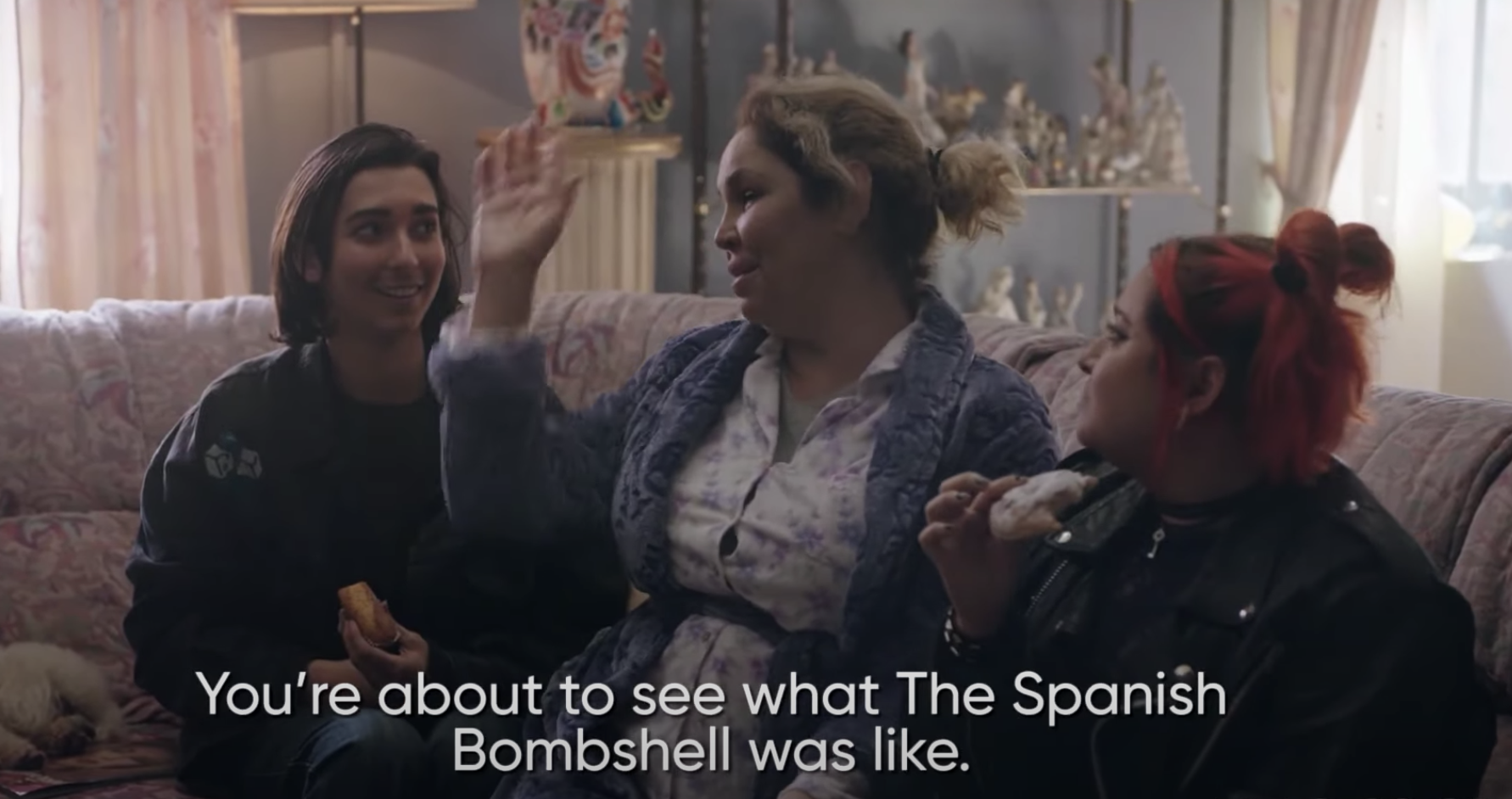 "Cristina saying, ""You're about to see what the Spanish bombshell was like"""